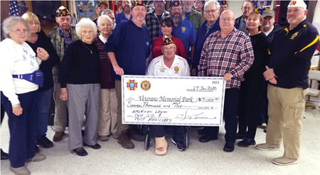 American Legion Post 30/Auxiliary make substantial donation
