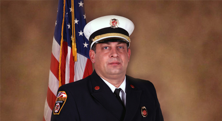 Fire Chief Necklaus honored